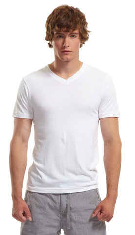 Slim Fit V-Neck T-Shirt - White