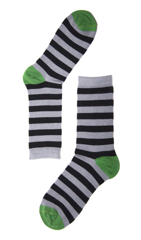 Grey Striped Sock