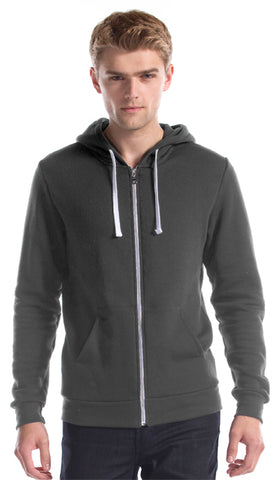 Full Zip Hoody - Charcoal