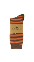 Orange Striped Sock
