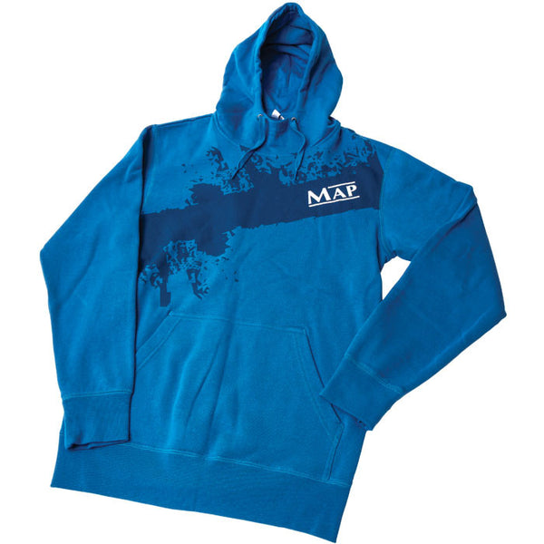 Map Blue Match Fishing Hoody