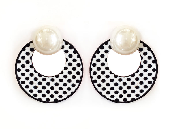Retro Noir Earrings