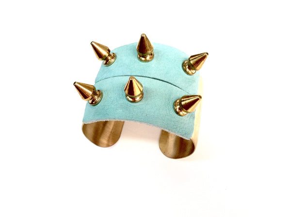 The spike Cuff leather bracelet
