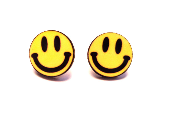 The acid trip smiley studs