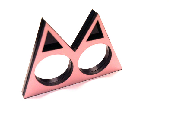 The Pyramid stack ring (pink)