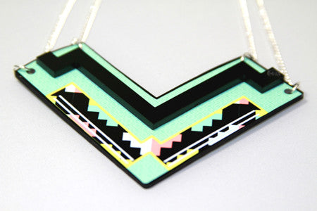 The Chevron Stacked Necklace Reversible