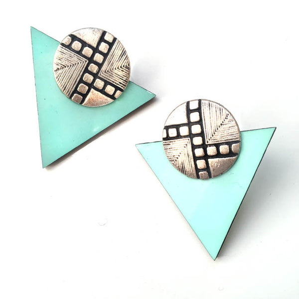 "The ""Mint Chip"" Stud earrings"