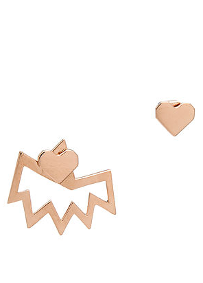 Love+Made x Miss Wax stud earring ( Rose gold )