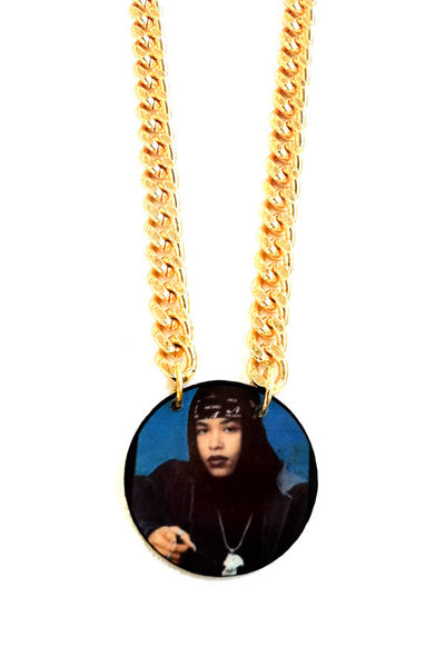 "The ""babygirl"" Aaliyah chain pendant"
