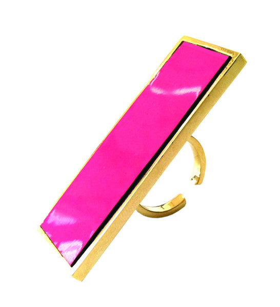 """Out the box"" Ring (pink)"