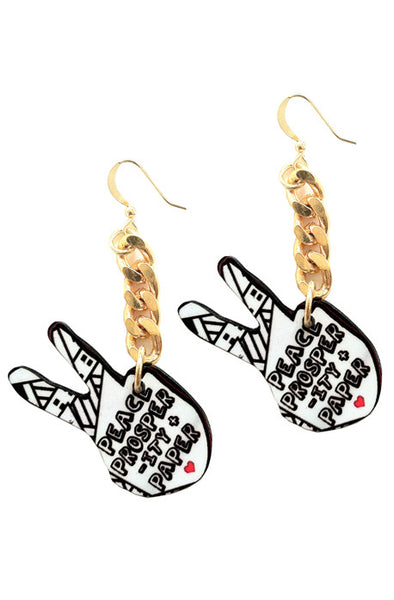 The peace & Papes earrings