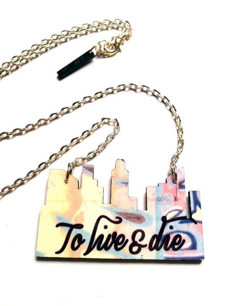 The Live or Die L.A city necklace
