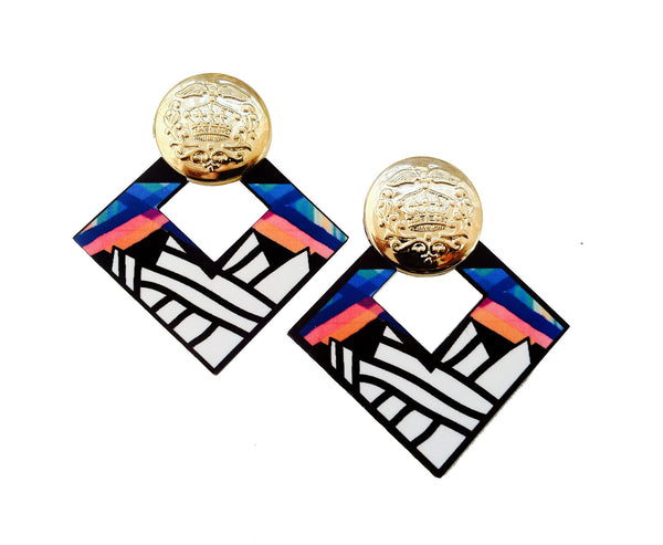 "The ""Color-Lust"" earrings"