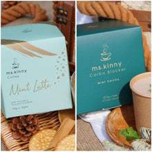 Load image into Gallery viewer, MsKinny Official Distributor | MsKinny SG Slimming Coffee and Cocoa Carb Blocker are plant-based and halal-certified. Formulated in the USA and manufactured in Singapore. Mint Cocoa Mint Latte