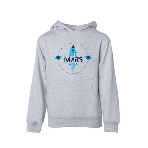 Open image in slideshow, OFF 2 MARS® TECH U Youth Midweight Hoodie OFF 2 MARS® TECH U YSM Gray Heather