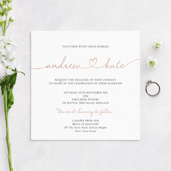 Heartfelt Invitation Mockup