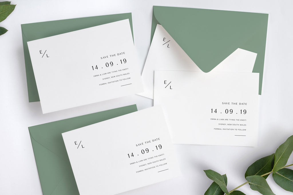 Melbourne Save the Date with Seedling Envelope