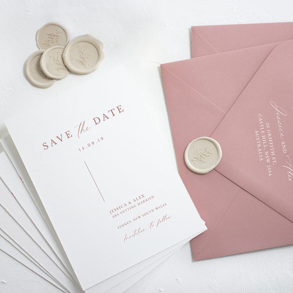 Milan Letterpress Save the Date