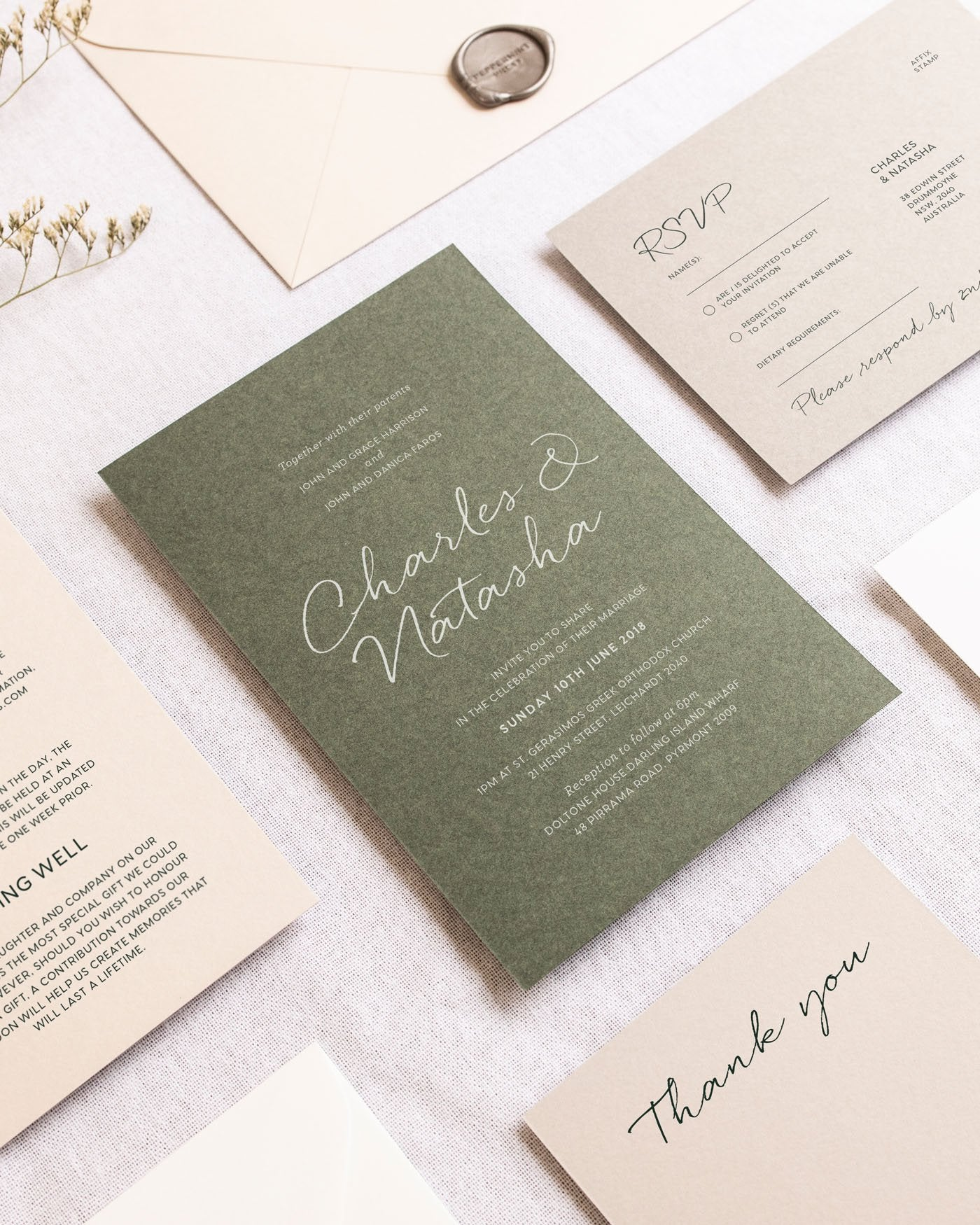 Clair Place Cards