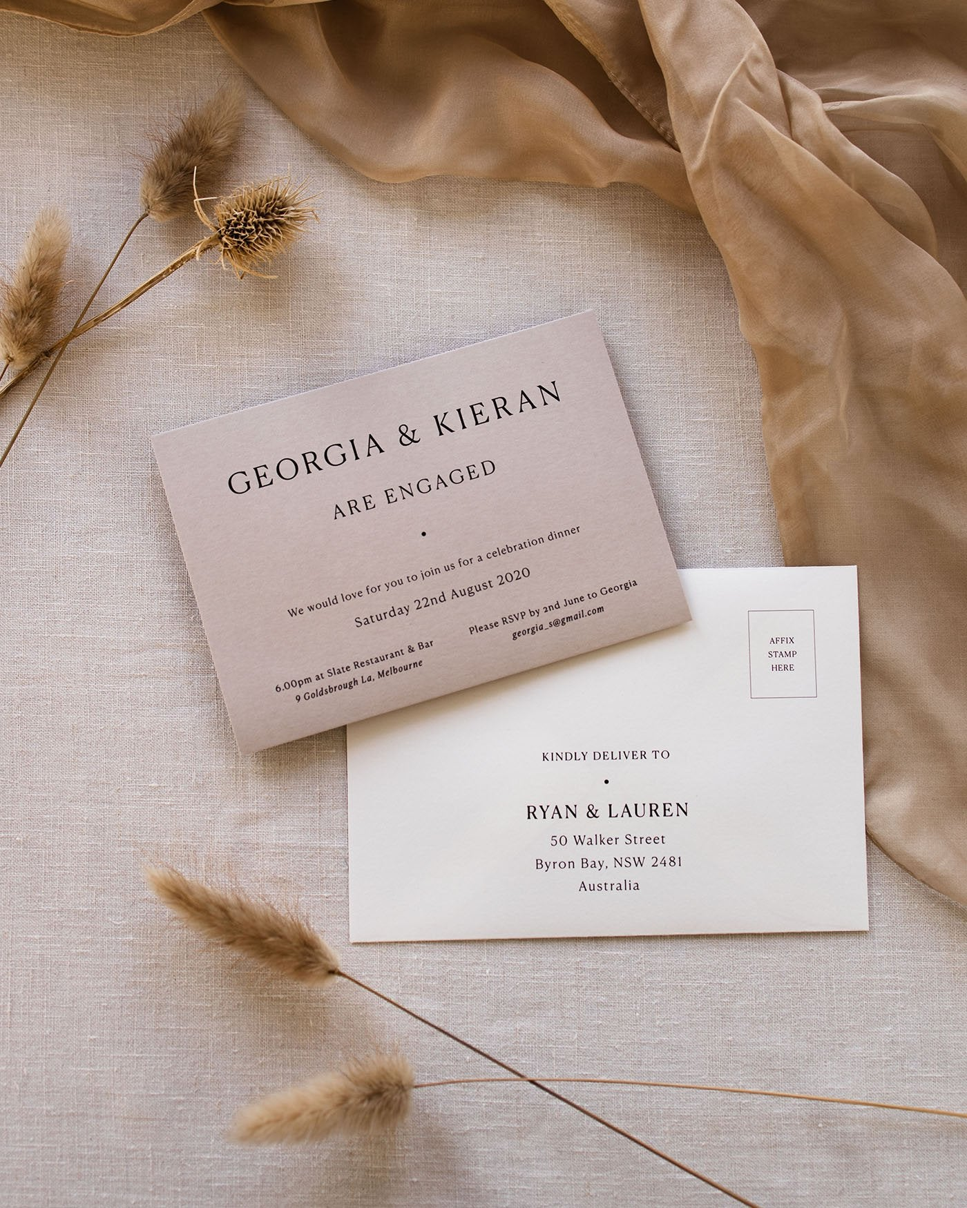 Georgia Engagement Invitation