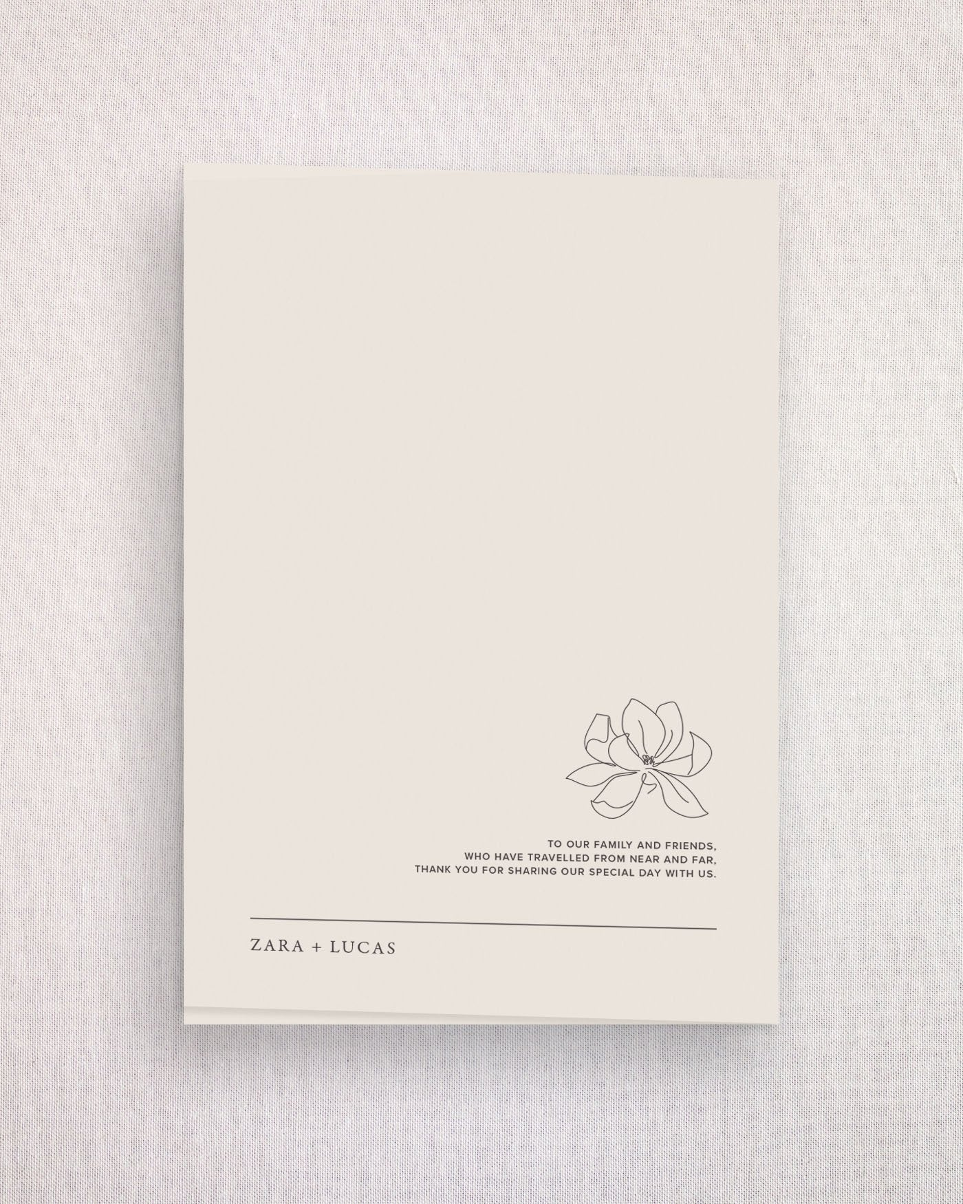 Magnolia Ceremony Booklet