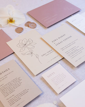 Magnolia Engagement Invitation
