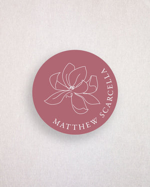 Magnolia Place Card Coaster