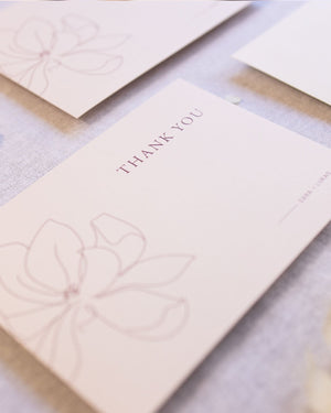 Magnolia Thank you Card