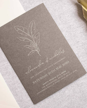 Palms Engagement Invitation