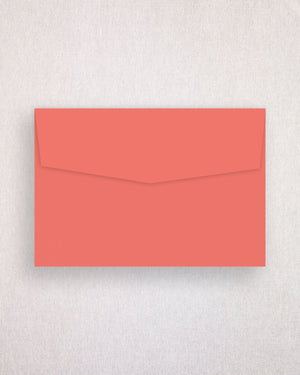 Palms Coloured Invitation Envelopes