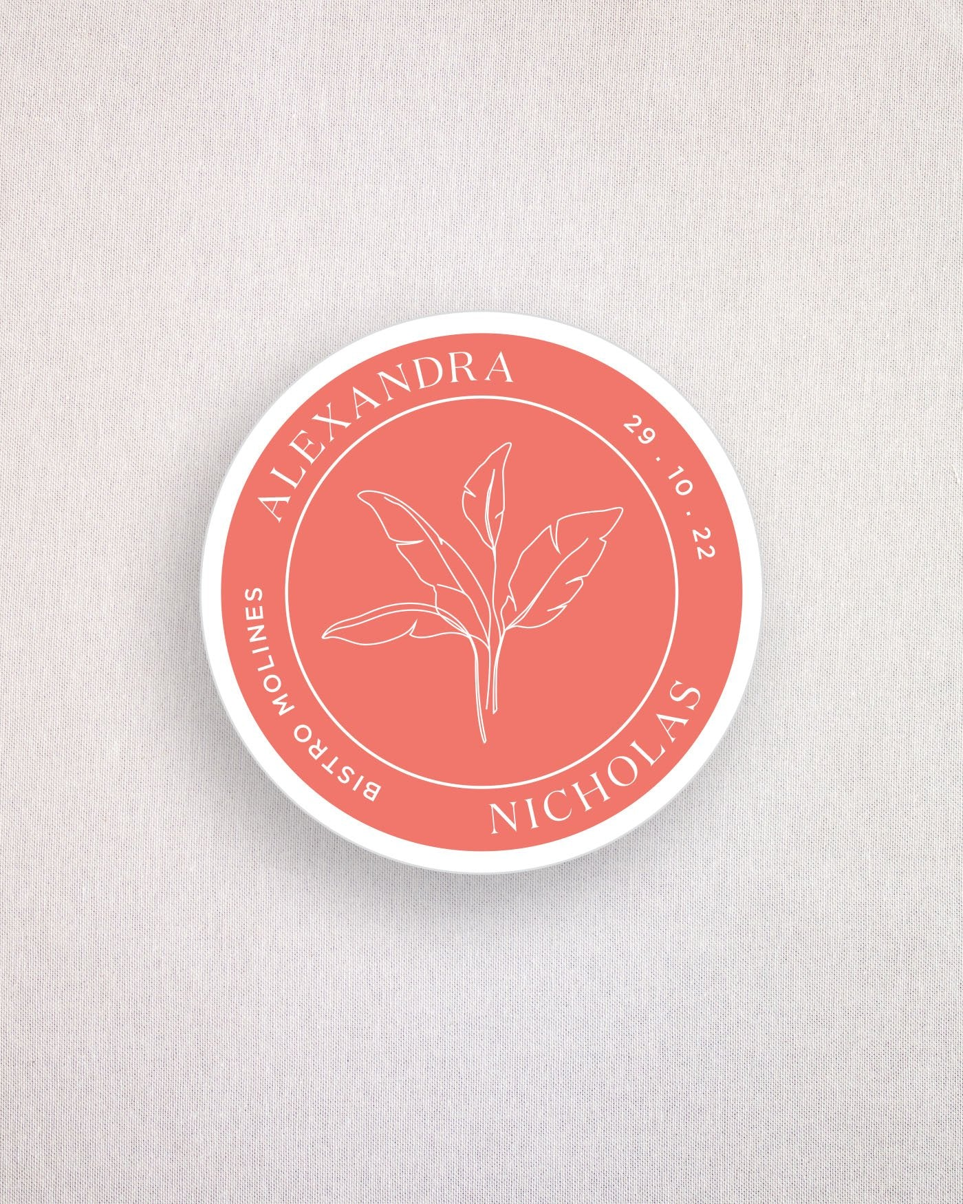 Palms Keepsake Coaster