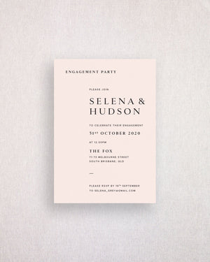 Selena Engagement Invitation