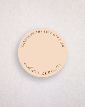 Soleil Place Card Coaster