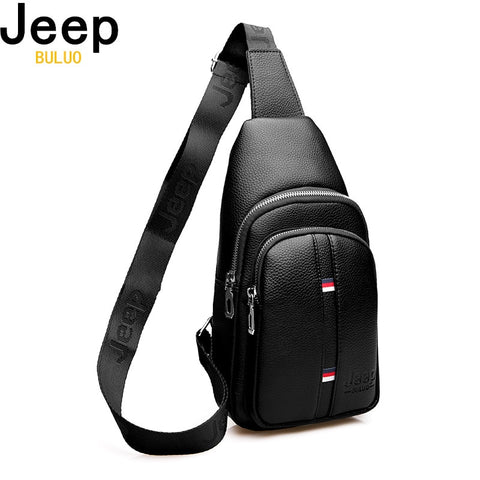 6c45c9bf15b JEEP BULUO Large Capacity Man's Chest Bag Casual Crossbody Bags For Men