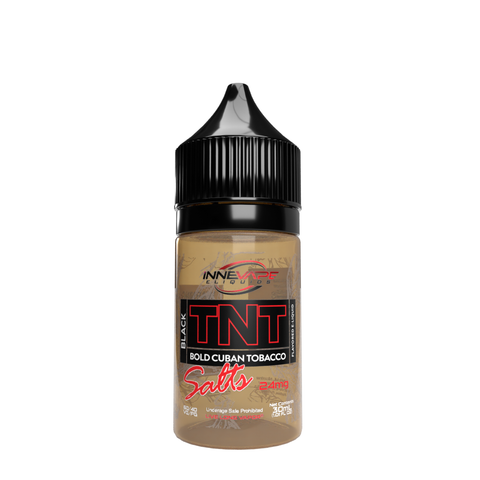 TNT Black Bold Cuban Tobacco Innevape 24 MG 30 ML Salts