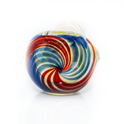 Envy Inside Silver Swirl Fume w/Multi-Color Spun Head