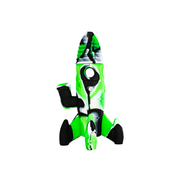 Silicone Rocket Ship Water Pipe White / Green / Black