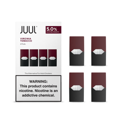 JUUL Virginia Tobacco (Pack of 4 Pods)