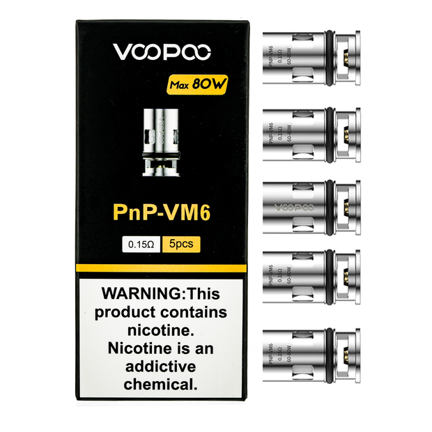 VooPoo PnP Coil - Pack of 5 Coils