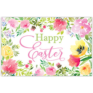 Happy Easter Floral Paper Placemat