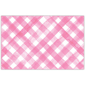 Pink Buffalo Check Paper Placemats