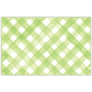 Lime Buffalo Check Paper Placemat