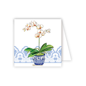 Blue Potted Orchid Note Cards