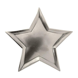 Star Silver Foil Plates