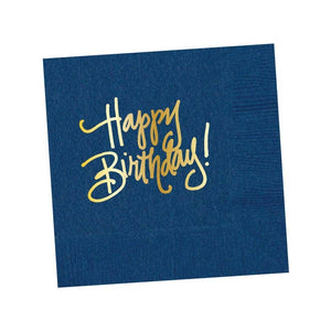 Natalie Chang - Napkins - Happy Birthday