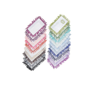 Fringe Fold Over Cocktail Napkins