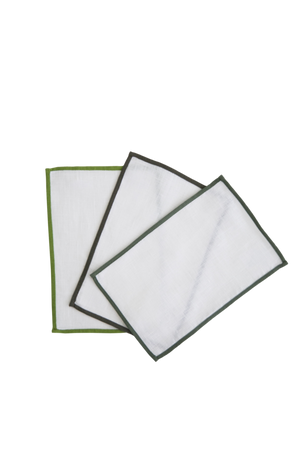 Color Edge Fold Over Cocktail Napkins
