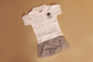 Boy's Short Sleeved Collared Shirts with monogram