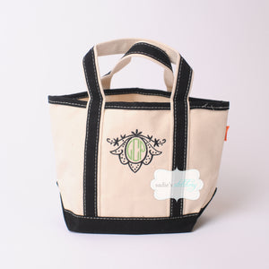 Handy Canvas Boat Tote with Monogram