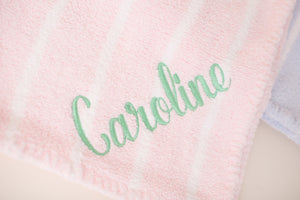 Chenille Blanket with Monogram